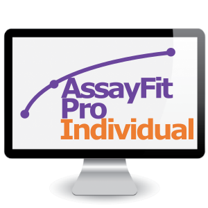 Picture of One Month Assayfit Pro Curve Fitting Individual Key